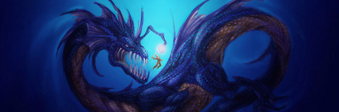 22 Cool Water Dragon Illustrations