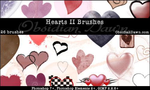 Hearts II Photoshop Brushes