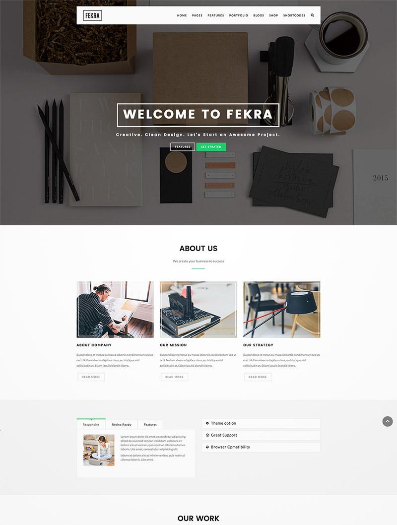 responsive minimal theme