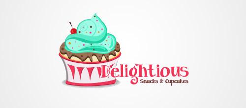 delicious cake logo design