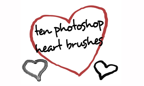 Photoshop CS Heart Brushes