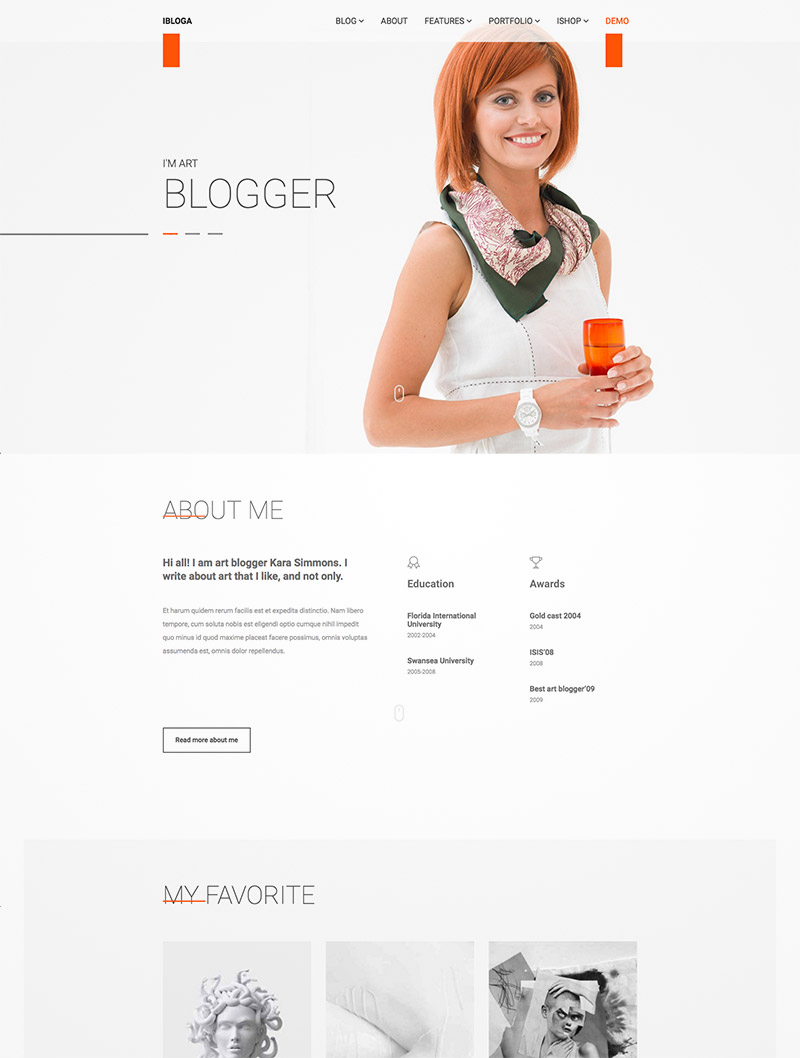 blog portfolio wordpress