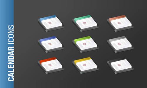 Free Calendar Icon Set