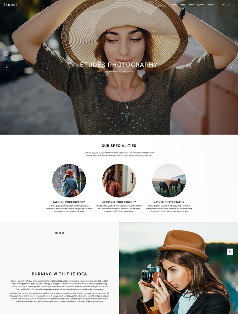 premium photography wordpress
