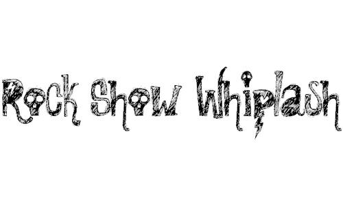 Rock Show Whiplash font