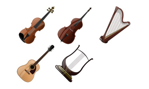 Stringed Instruments Icons