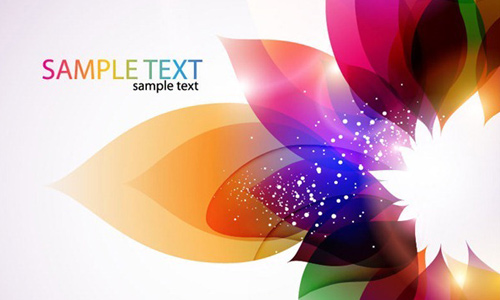 Abstrac Colorful Floral Vector Background