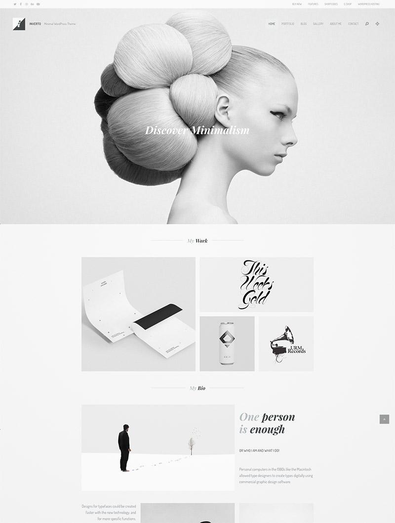 minimal parallax theme