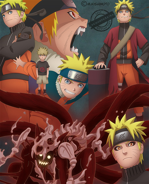 Naruto through the years