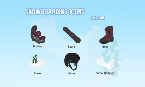 Snowboarding Icons
