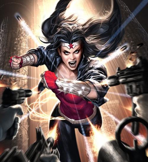 Wonderwoman dodging bullets