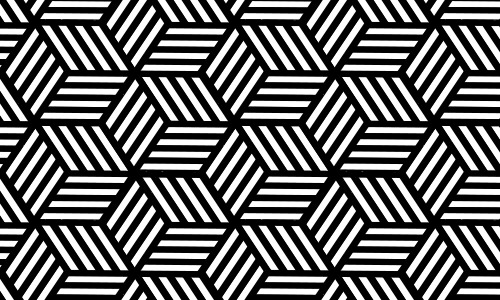 cube black and white patterns