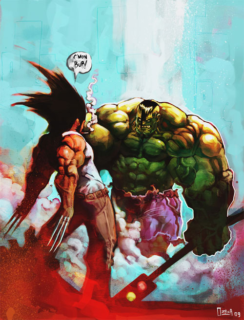 the wolv vs the hulk