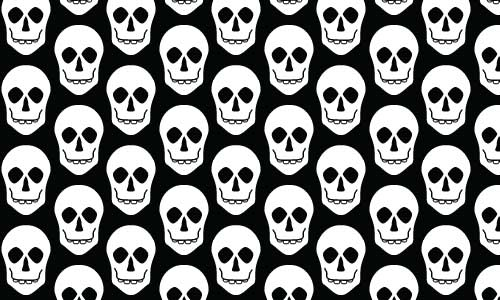Scary Black and White pattern