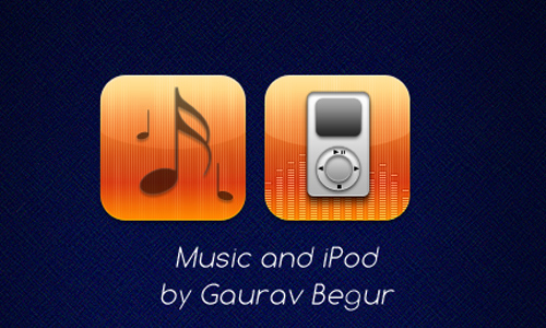 iPod and Music icons