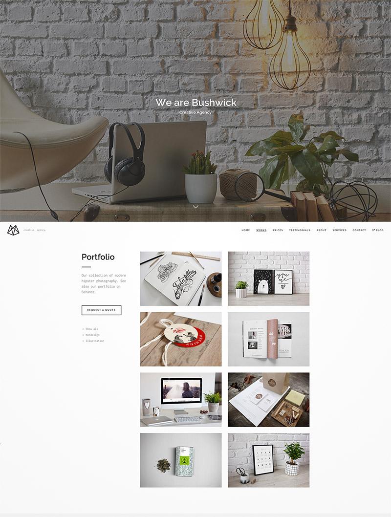 minimal lightweight theme