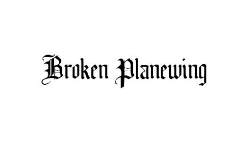 Broken Planewing font