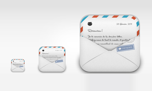 iPhone replacement icon-mail