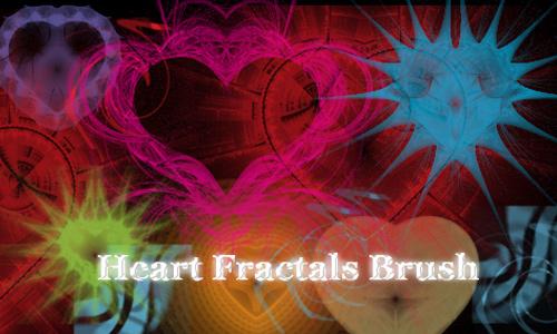Heart Fractal Brushes