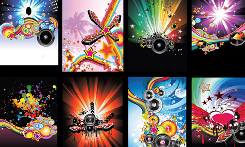 Disco Vertical Banners Vector Pack