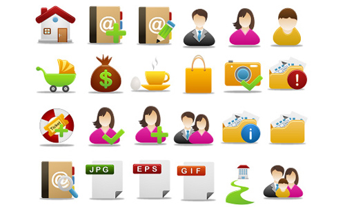 Pretty office icon set part 4