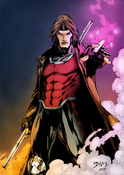 X-Men Gambit Colors