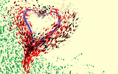 Artistic Valentine Wallpaper