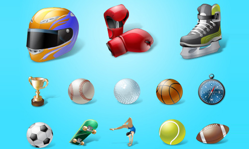 Vista Style Sport Icon Set