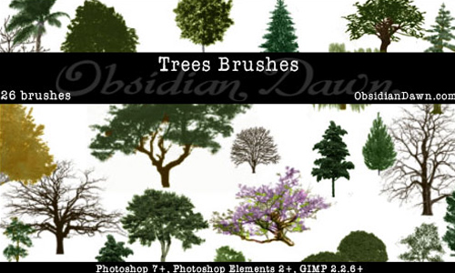 Trees Photoshop Brushes