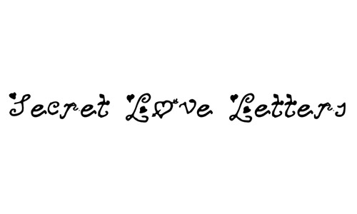 free secret love letters fonts