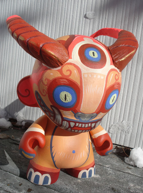 Custom demon monkey Munny 8