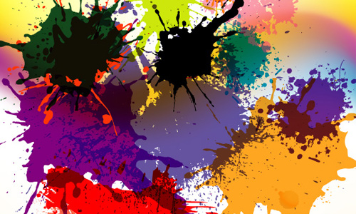 Splashed Designs in Colored