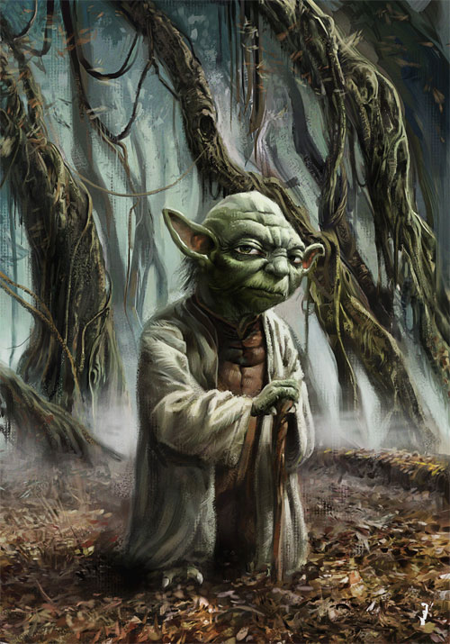 Little, Green and Wise Yoda