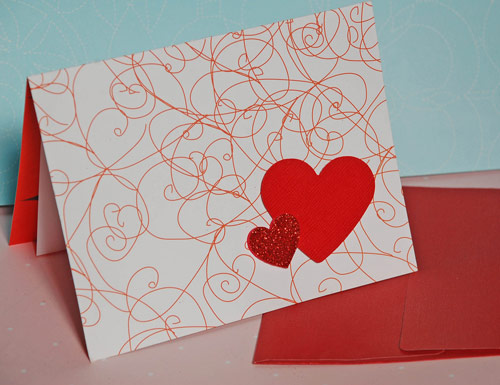 Pretty Valentines Card Creation