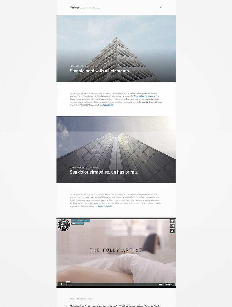 minimal blog theme