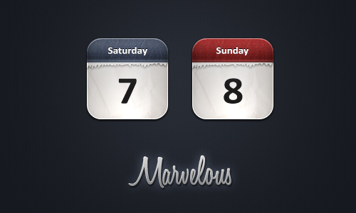 Marvelous Calendar icons