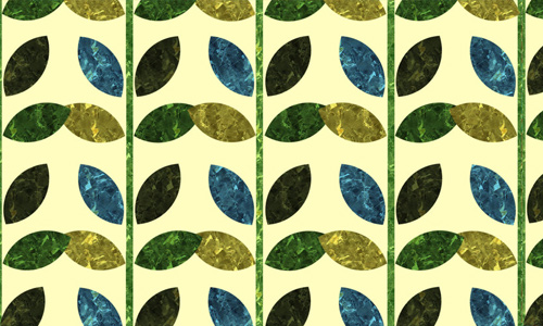 Patterned Leaves Wallpaper