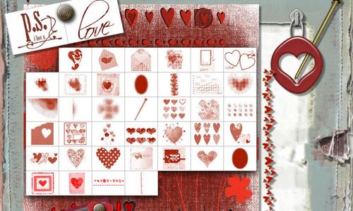 Valentine Mega Art Brush Set