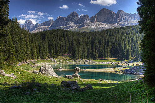 Carezza Lake hdr