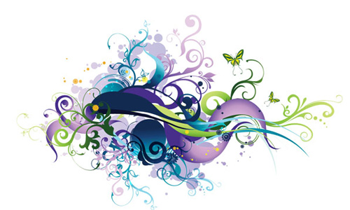 Swirl Floral Vector Graphic