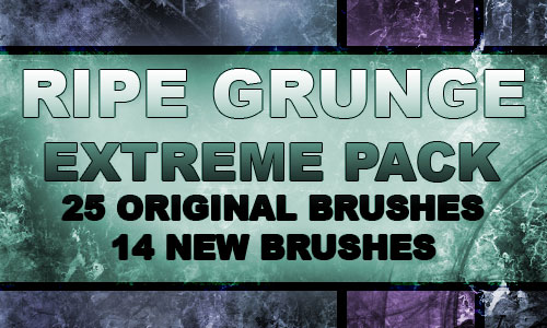 Grunge Texture Brushes set 2