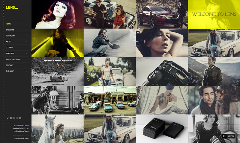 grid photography theme
