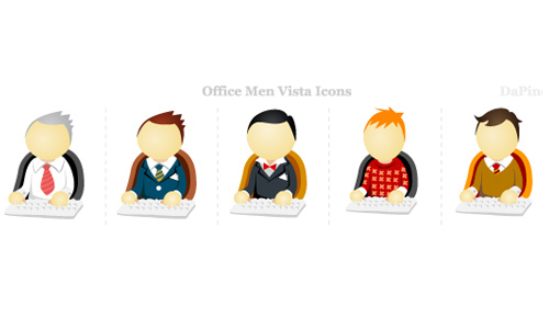 Office Men Vista Icons