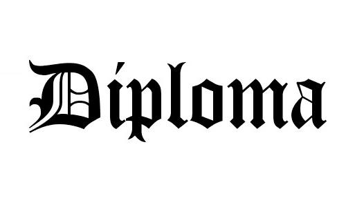 Diploma font