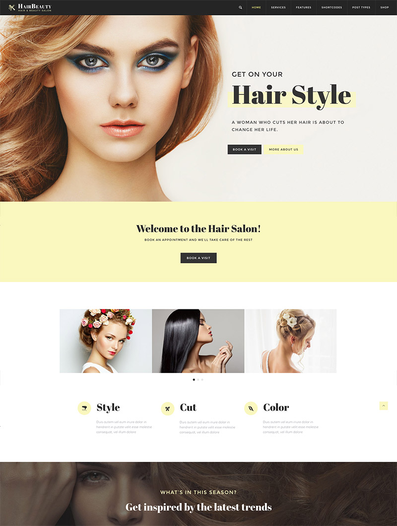 hair salon theme