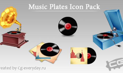 The OldMusic Plates -Icon Set