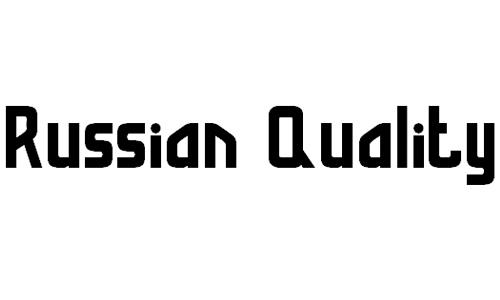 Russian Quality font