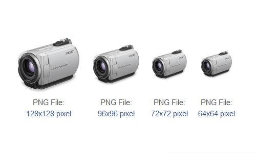 Sony handycam purple lens Icon