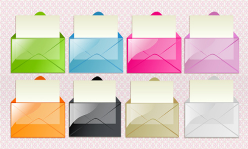 Transparent Mail Vista Icons