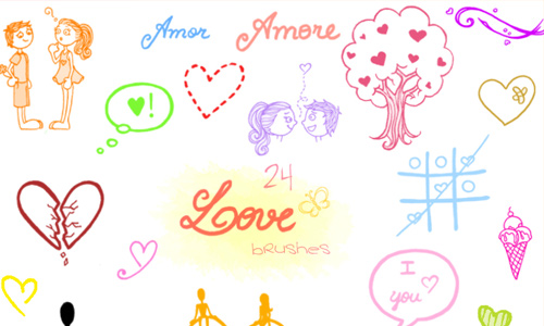 Love Doodles Brush Set